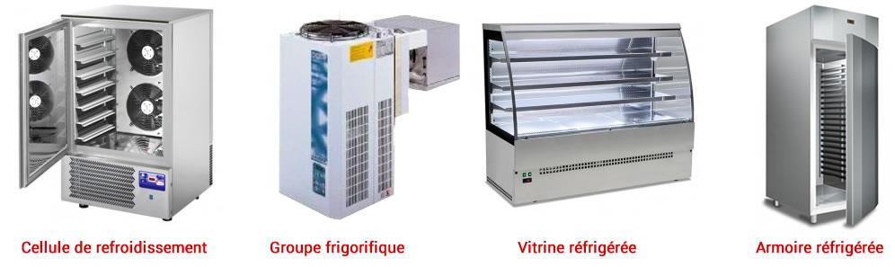 Cellule de refroidissement Groupe frigorifique Vitrine réfrigérée Amoire réfrigérée