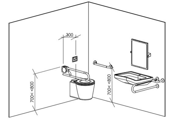 Plan WC normes handicapé accessibilité