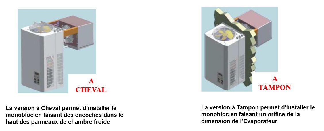 Monobloc de réfrigération à Cheval et à Tampon