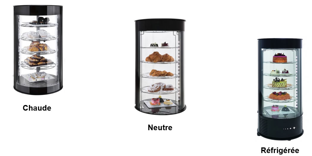 Les vitrines cylindriques